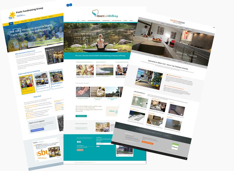screenshots of seajar digital client work