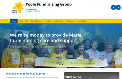 Marie Curie Poole Fundraising Group website
