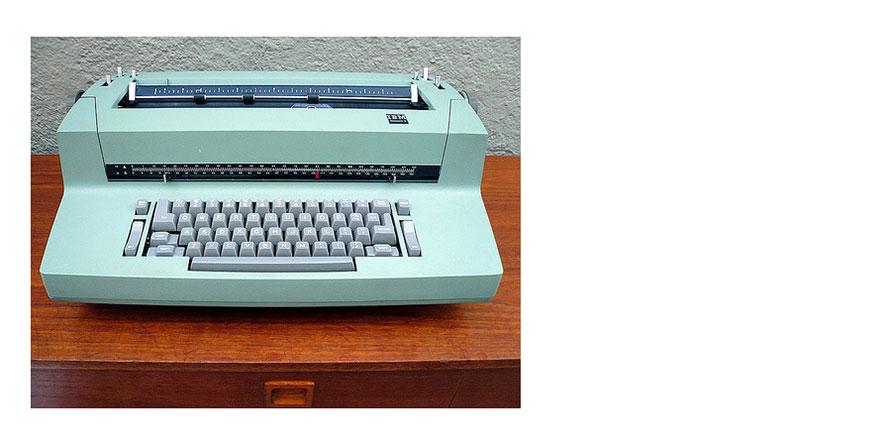 Golfball Typewriter found on Tumblr
