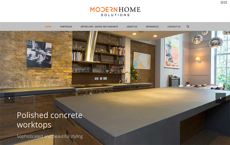 Modern Home Solutions homepage