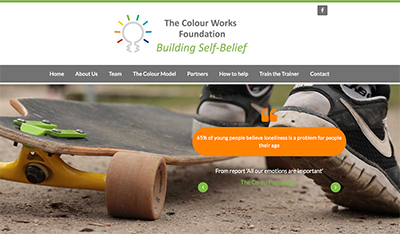 screenshot of The Colour Works Foundation website