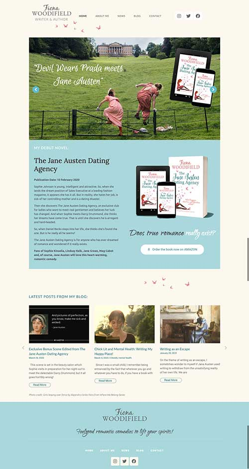 Author Fiona Woodifield website