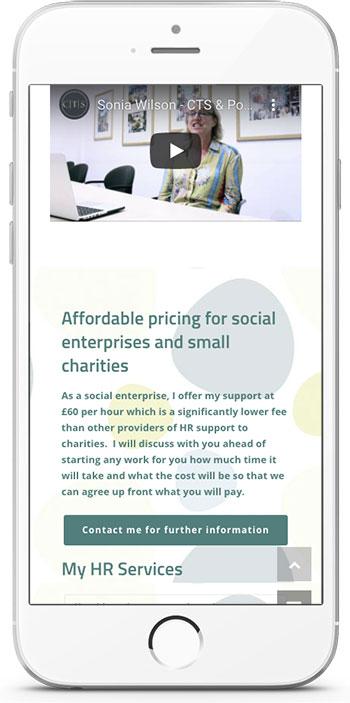 iphone showing populo website