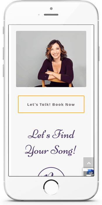 Rachel More website call to action