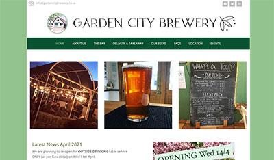 Garden City Brewery homepage