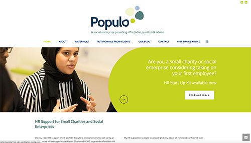 Populo homepage
